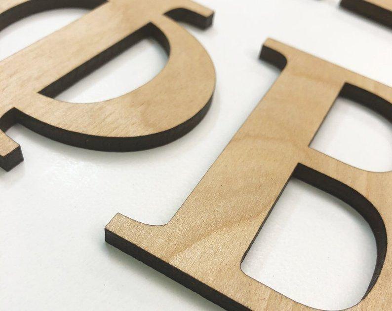 Laser Cut Wooden Greek Letters