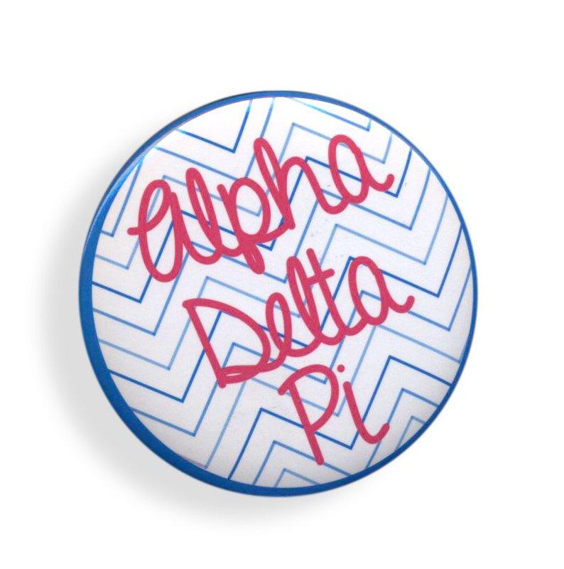 Alpha Delta Pi Chevron Script Button
