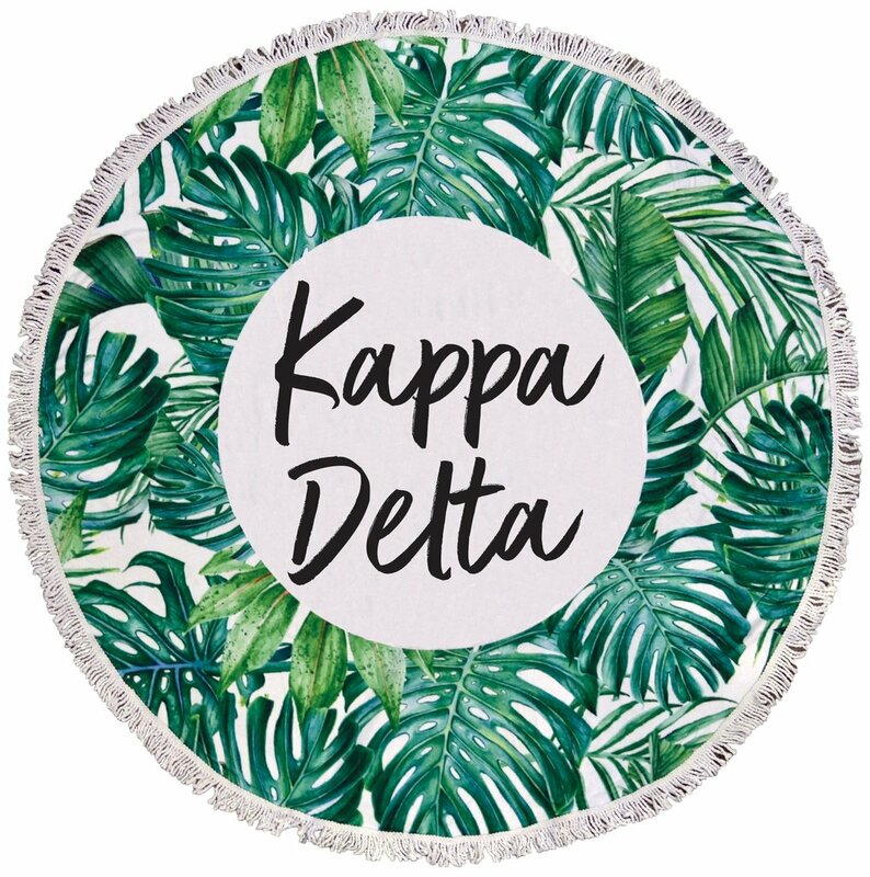 Kappa Delta Palm Leaf Fringe Towel Blanket