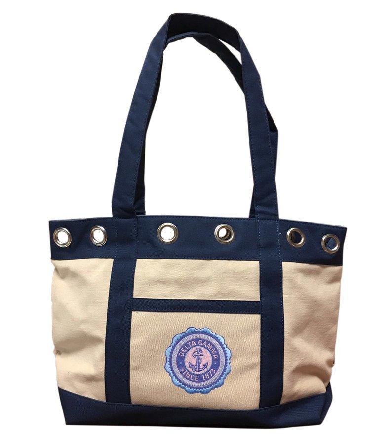 DISCOUNT-Delta Gamma Canvas Tote Bag - ON SALE!