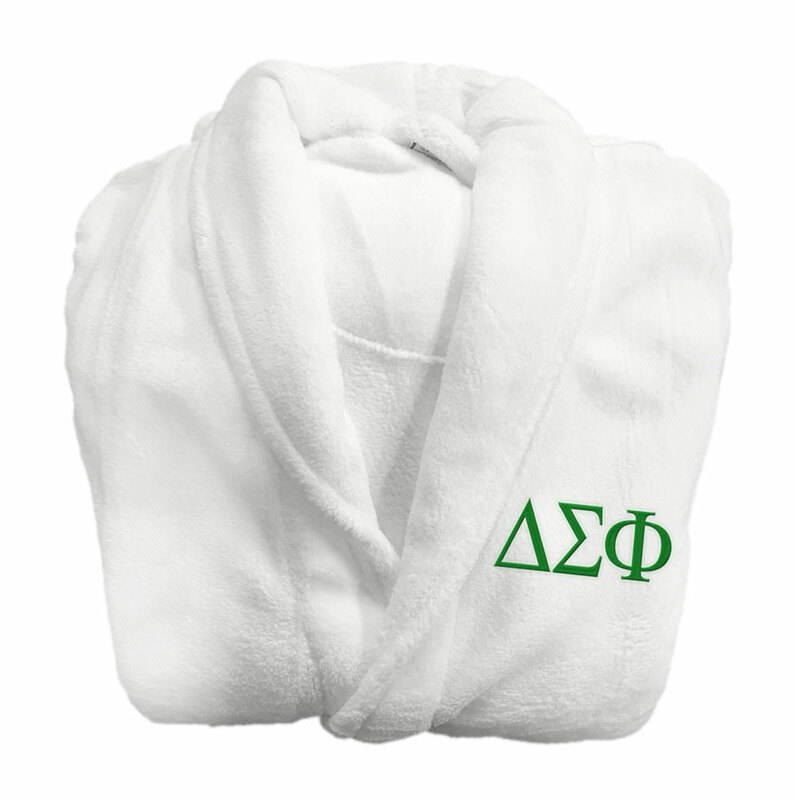 Delta Sigma Phi Fraternity Lettered Bathrobe