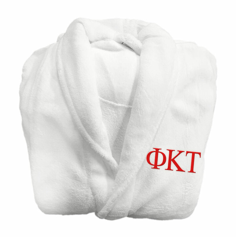 Phi Kappa Tau Fraternity Lettered Bathrobe