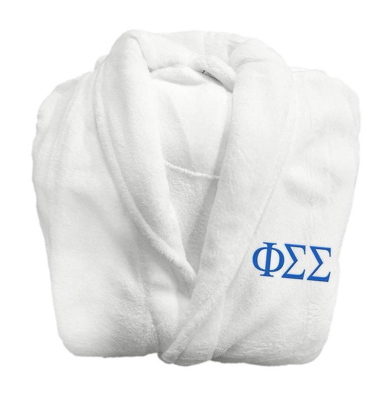 Phi Sigma Sigma Greek Letter Bathrobe