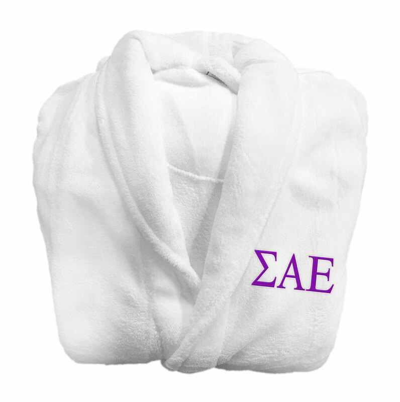 Sigma Alpha Epsilon Fraternity Lettered Bathrobe
