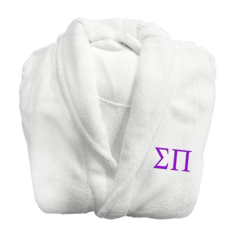 Sigma Pi Fraternity Lettered Bathrobe