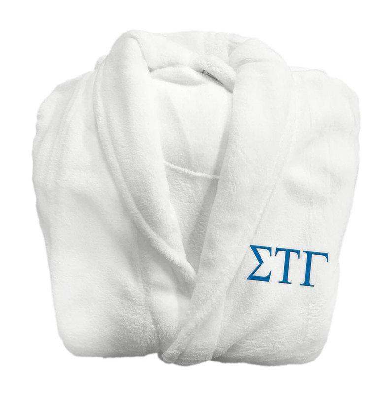 Sigma Tau Gamma Fraternity Lettered Bathrobe