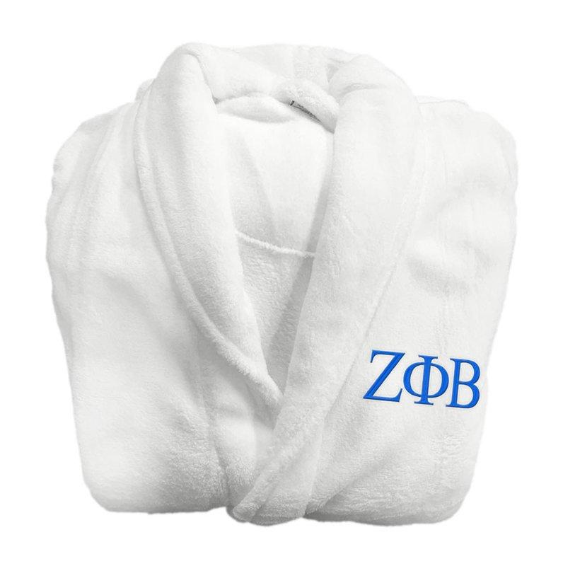 Zeta Phi Beta Greek Letter Bathrobe