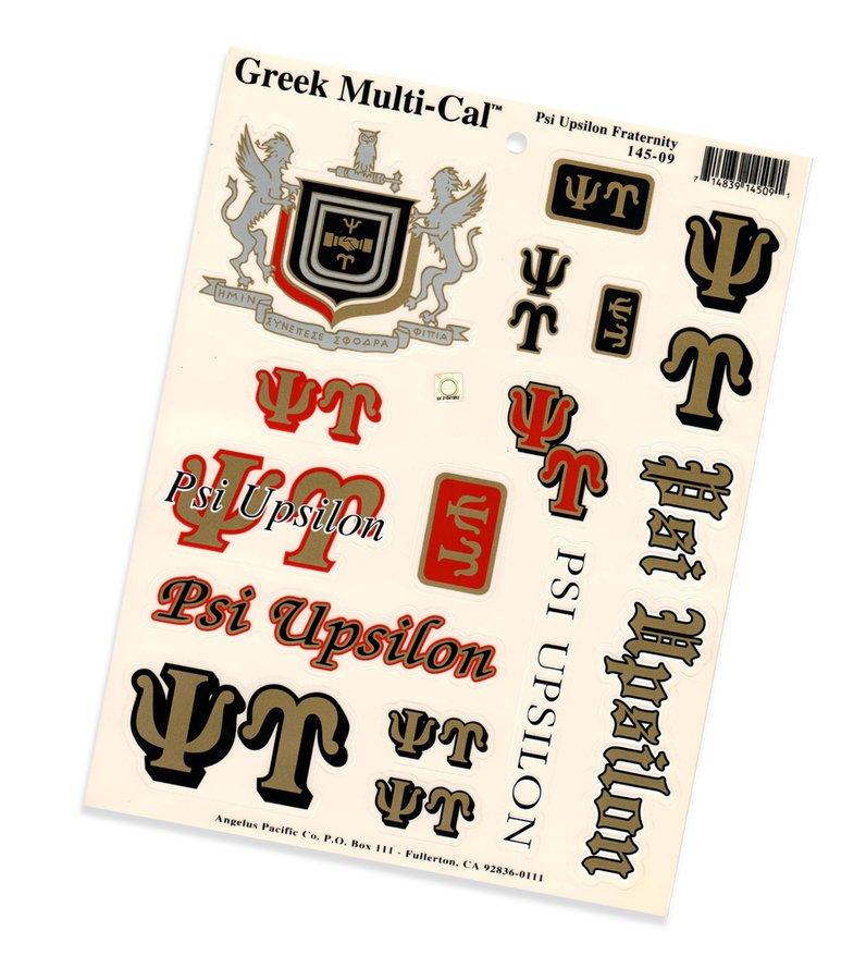 Psi Upsilon Multi Decal Sheet
