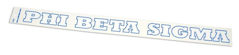 Phi Beta Sigma Long Window Decal