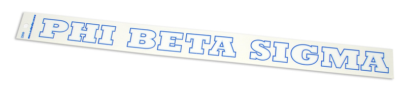 Phi Beta Sigma Long Window Decal