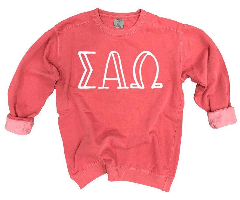 Sigma Alpha Omega Comfort Colors Greek Crewneck Sweatshirt