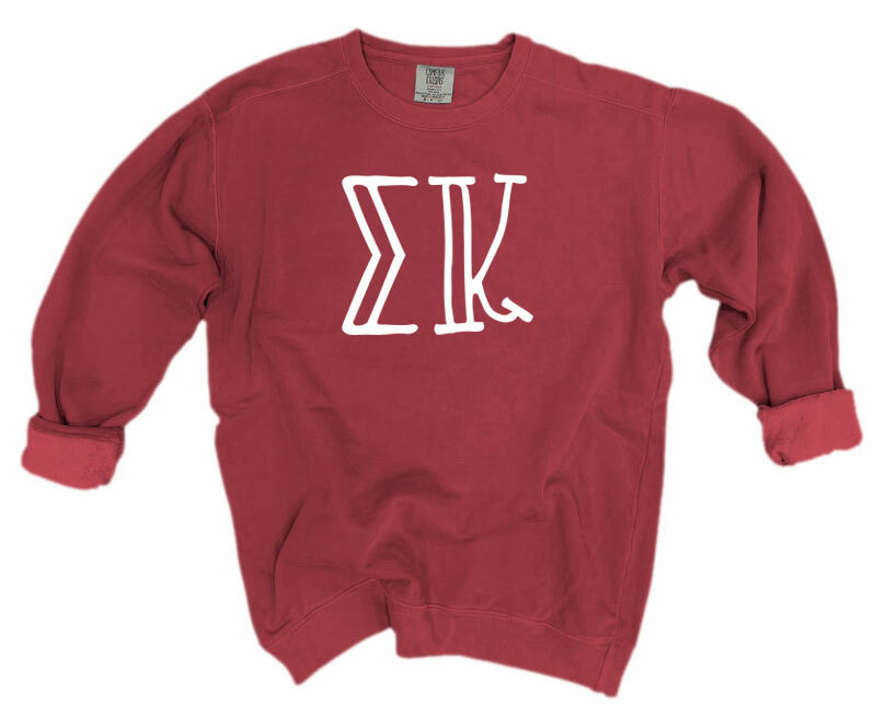 Sigma Kappa Comfort Colors Greek Crewneck Sweatshirt