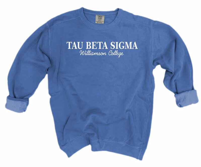Tau Beta Sigma Script Comfort Colors Greek Crewneck Sweatshirt