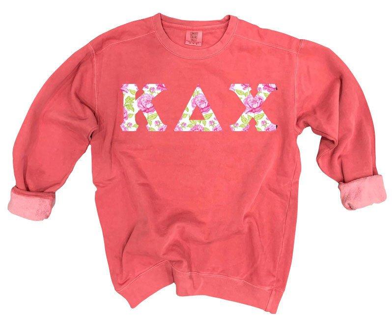 Kappa Delta Chi Comfort Colors Lettered Crewneck Sweatshirt