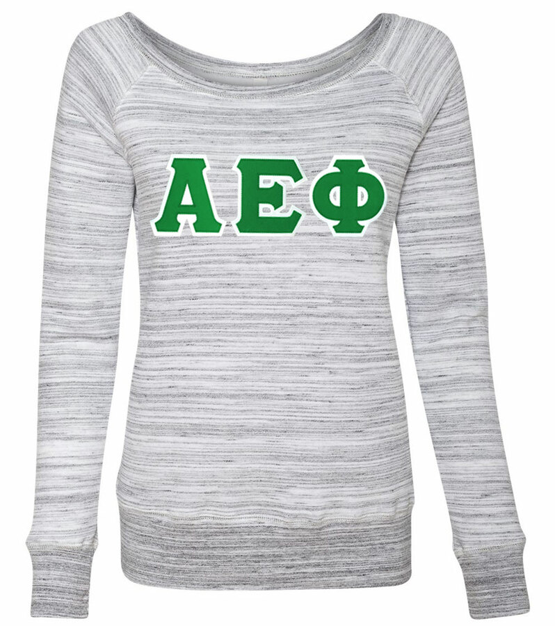 DISCOUNT-Alpha Epsilon Phi Fleece Wideneck Sweatshirt