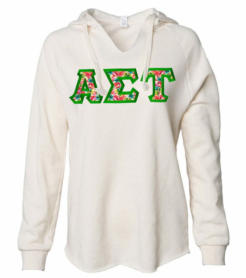 Alpha Sigma Tau Lightweight California Wavewash Hooded Pullover Sweatshirt