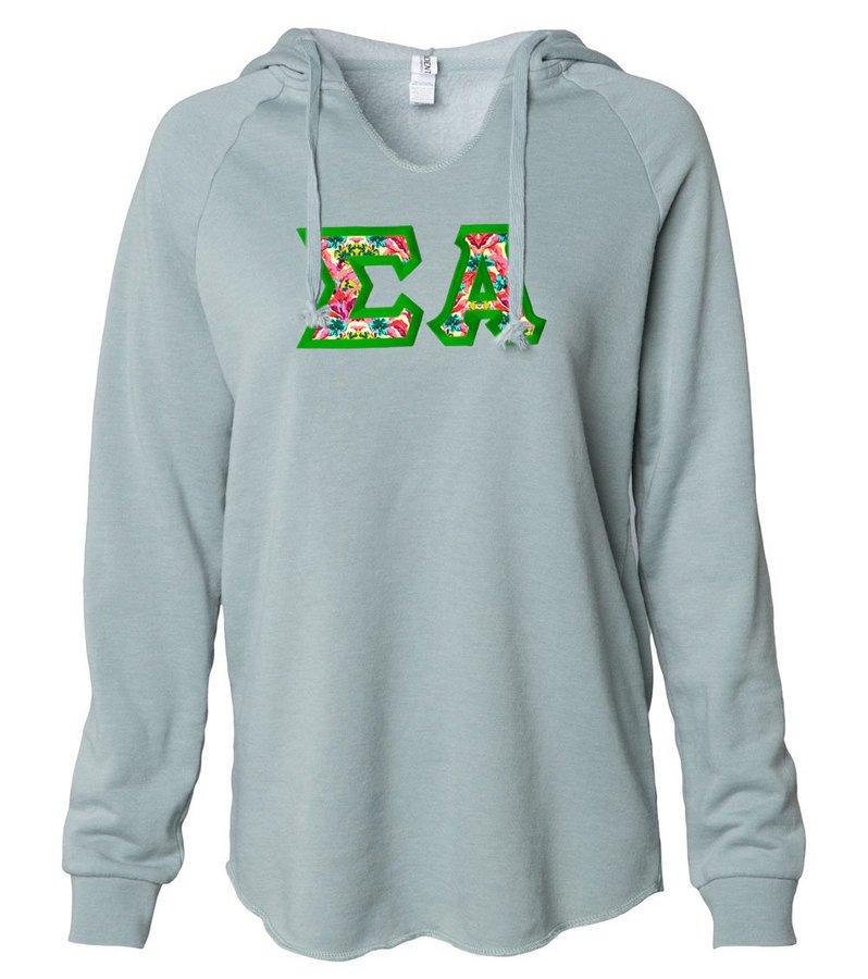 Sigma Alpha Lightweight California Wavewash Hooded Pullover Sweatshirt