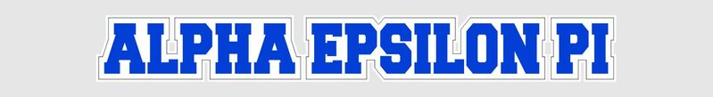 Alpha Epsilon Pi Long Window Sticker