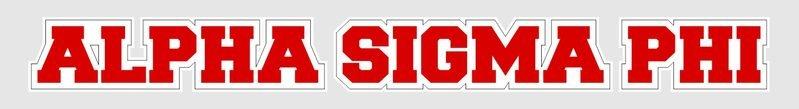 Alpha Sigma Phi Long Window Sticker