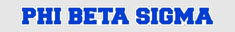 Phi Beta Sigma Long Window Sticker