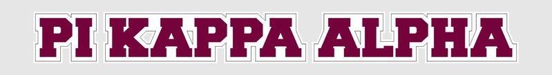 Pi Kappa Alpha Long Window Sticker