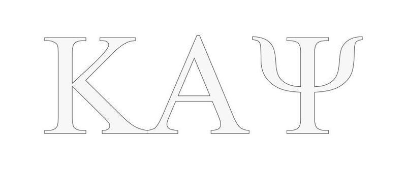 Kappa Alpha Psi Greek Letter Window Sticker Decal