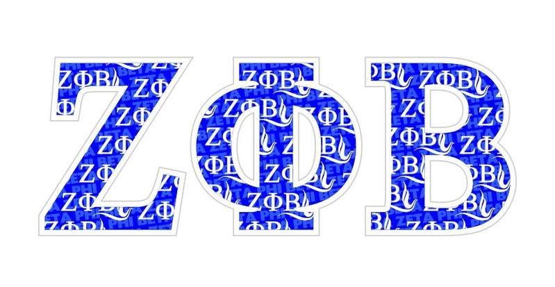"Zeta Phi Beta Mascot Greek Letter Sticker - 2.5"" Tall"