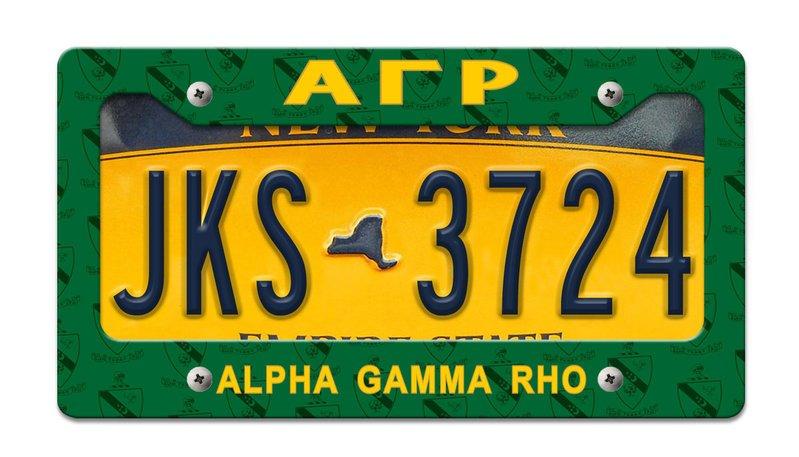 Alpha Gamma Rho License Plate Frame