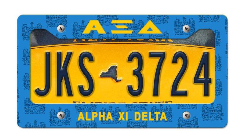 Alpha Xi Delta New License Plate Frame