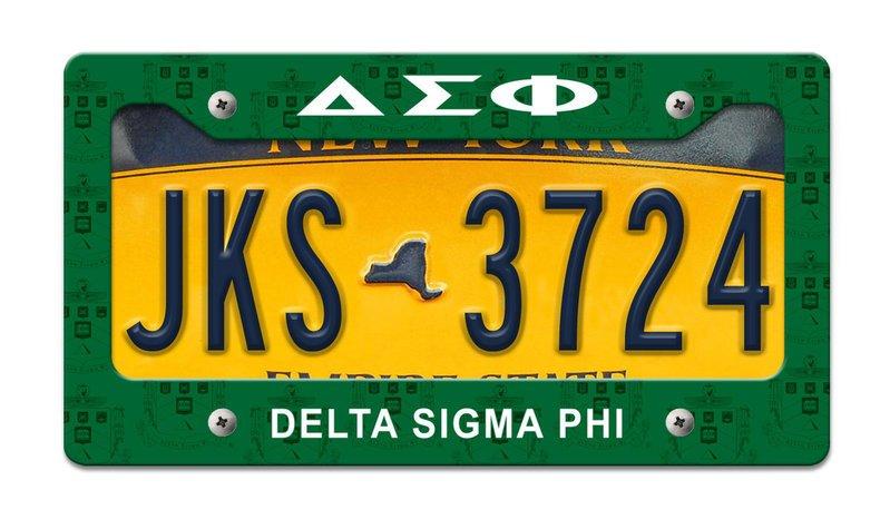 Delta Sigma Phi License Plate Frame