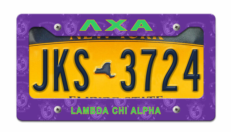 Lambda Chi Alpha License Plate Frame