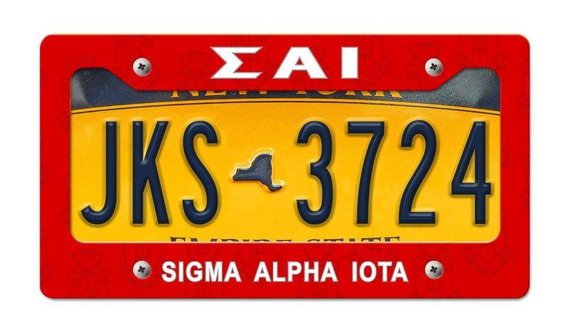 Sigma Alpha New License Plate Frame