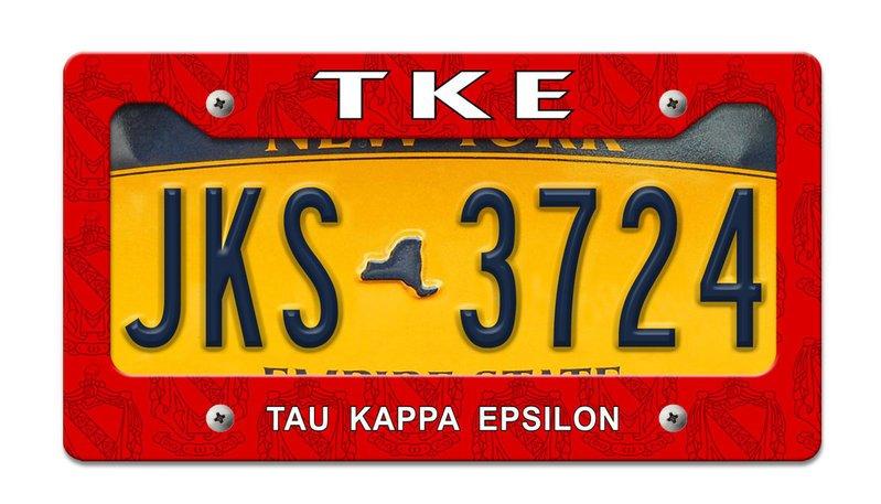 Tau Kappa Epsilon License Plate Frame