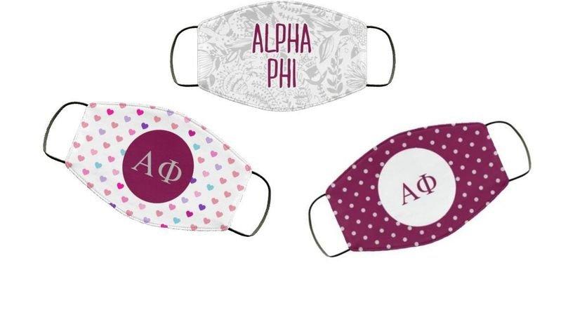 Alpha Phi Face Mask Trio Set