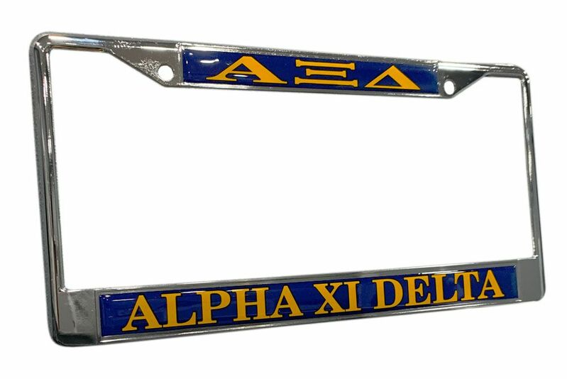 Alpha Xi Delta License Plate Frame