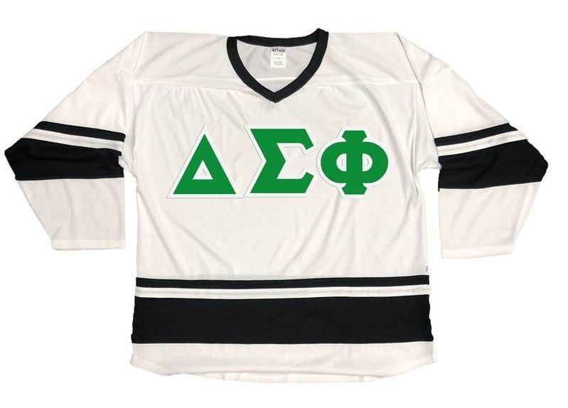 DISCOUNT-Delta Sigma Phi Breakaway Lettered Hockey Jersey