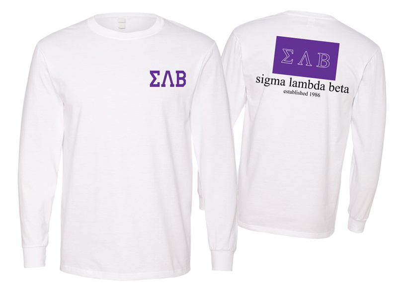 Sigma Lambda Beta Flag Long Sleeve T-shirt - Comfort Colors