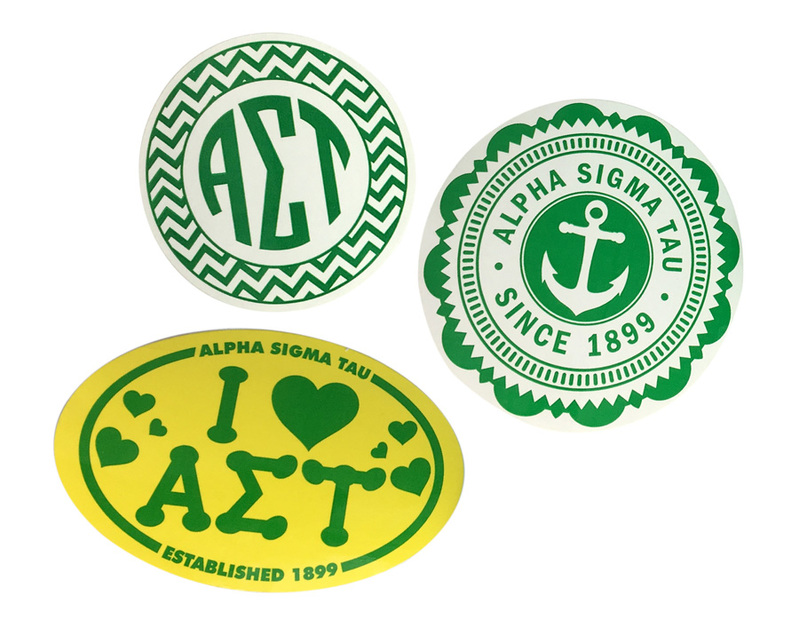 Alpha Sigma Tau Sorority Sticker Collection $5.95