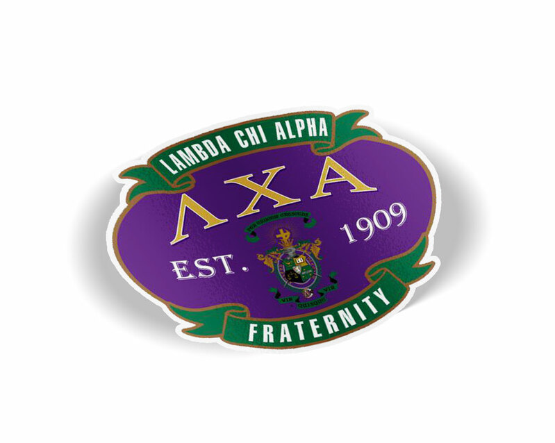 Lambda Chi Alpha Banner Crest - Shield Decal