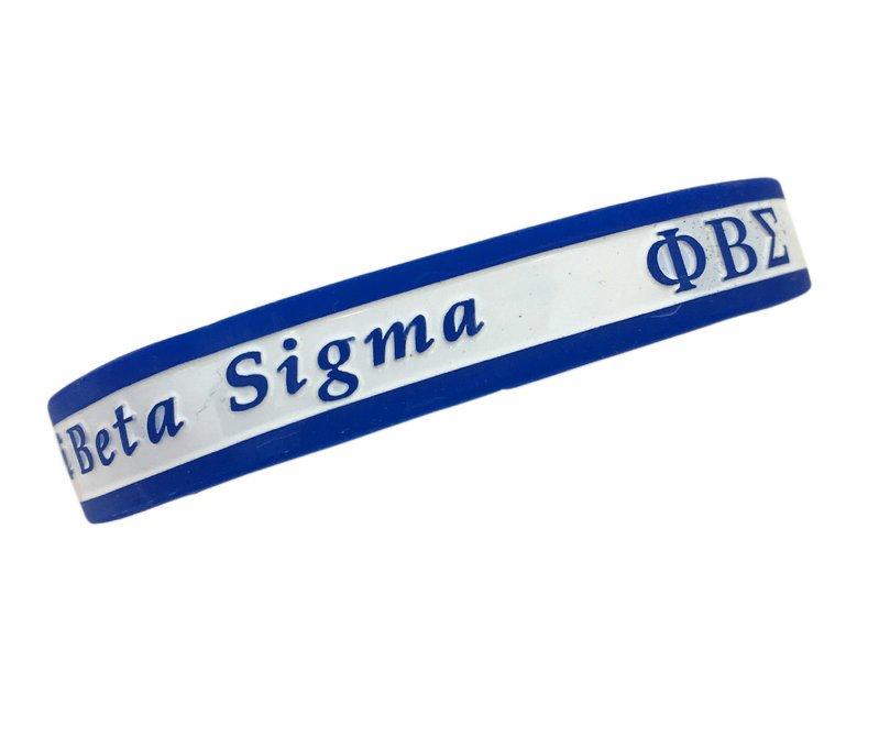 Phi Beta Sigma Silicone Bracelet