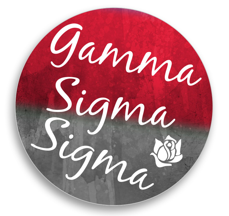 Sorority Sparkle Round Decal