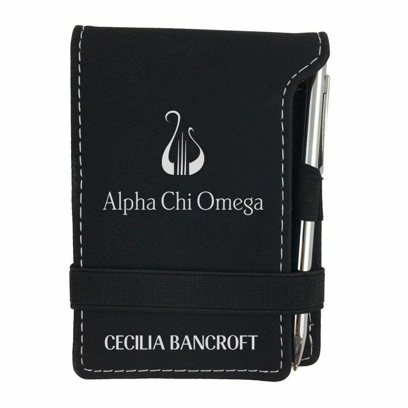 Alpha Chi Omega Mascot  Notepad With Pen