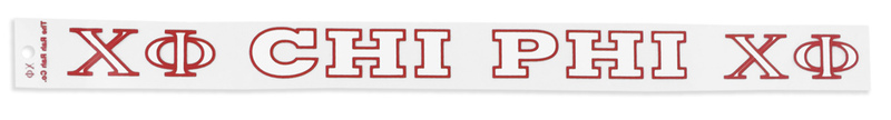 Chi Phi Long Window Decals Stickers