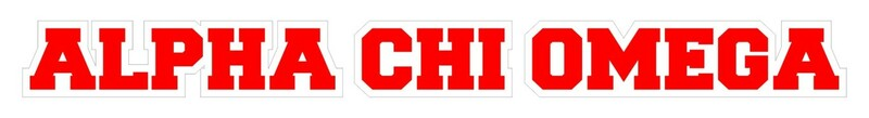 Alpha Chi Omega Long Window Sticker