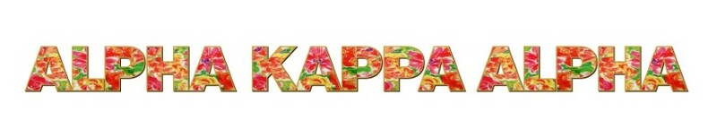 "Alpha Kappa Alpha Floral Long Window Sticker - 15"" long"