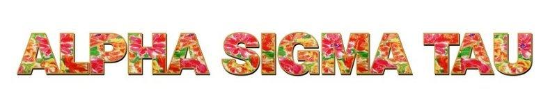 "Alpha Sigma Tau Floral Long Window Sticker - 15"" long"