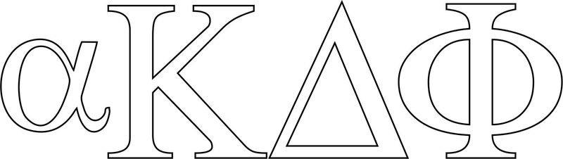 alpha Kappa Delta Phi Greek Letter Window Sticker Decal
