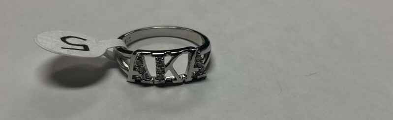 Super Savings - Alpha Kappa Alpha Sterling Silver Ring with Lab-Created Diamonds - SILVER