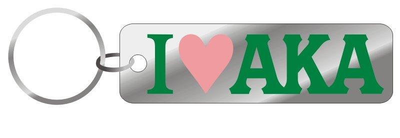 Alpha Kappa Alpha Mirror Keychain, Heart