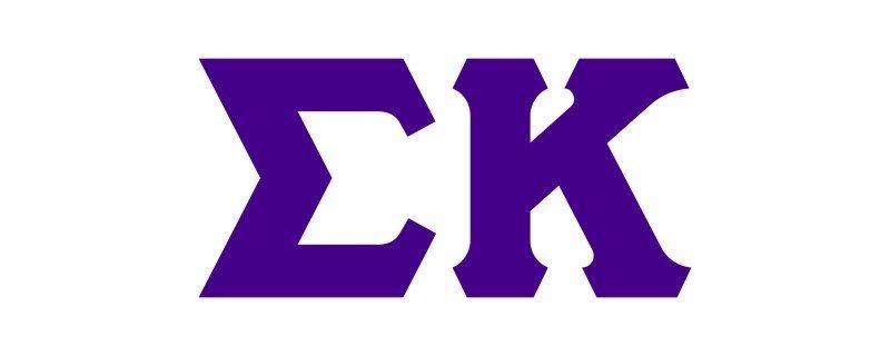 Sigma Kappa Big Greek Letter Window Sticker Decal
